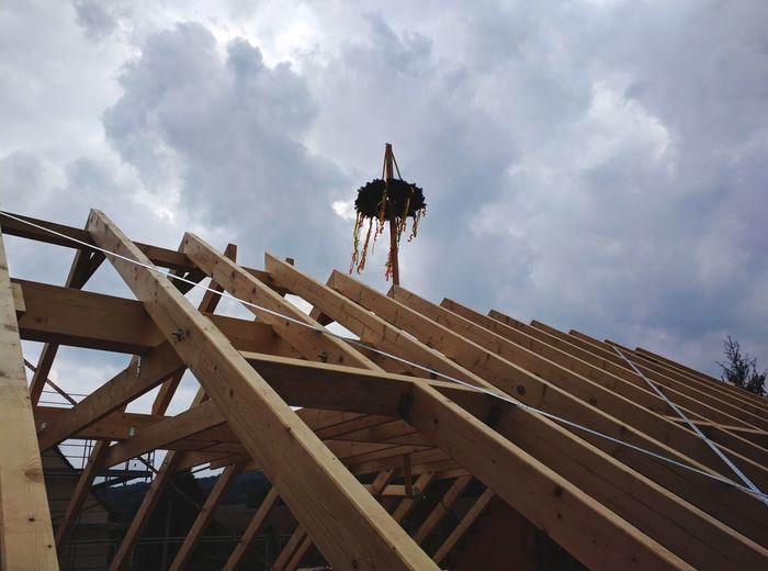 Richtfest Richtfest Roof EyeEm Selects Sky Architecture Built Structure Cloud - Sky