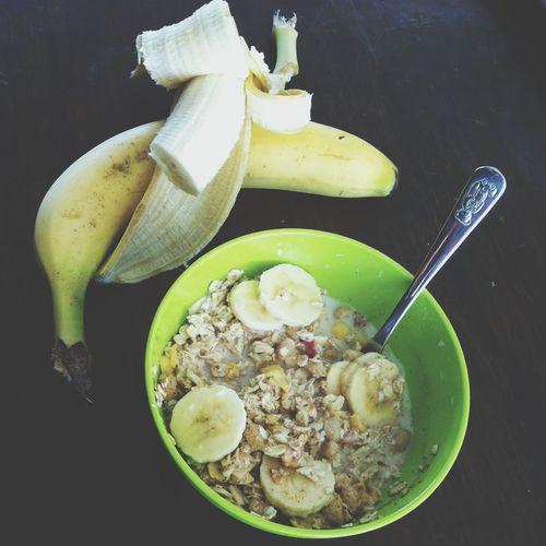 ?-muesli for breakfast. Breakfast Banana