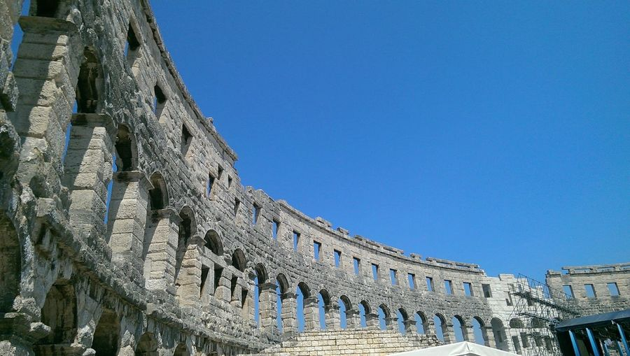 Detail of rome's colosseum