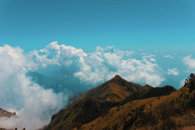 always make a new experience Mountain Volcano Smoke - Physical Structure Sky Landscape Cloud - Sky Volcanic Crater Volcanic Landscape East Java Province Volcanic Rock Geyser Kilauea Big Island - Hawaii Islands Lava Java Forest Fire