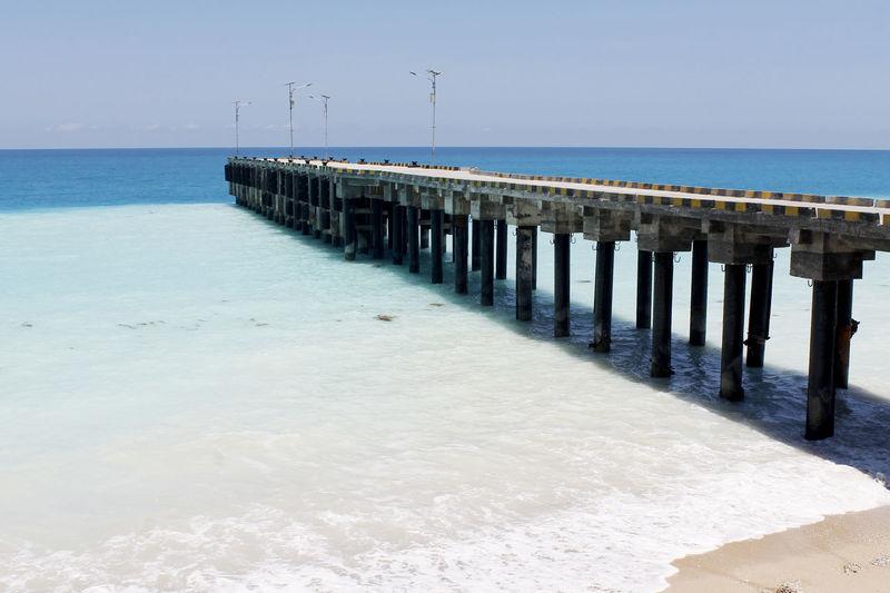 INDONESIA Kolbano Hot Beach Harbour Indonesia Blue Sky Kupang Kupang NTT Nusa Tenggara Timur