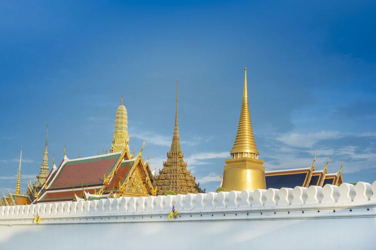 High section of wat phra kaew against sky