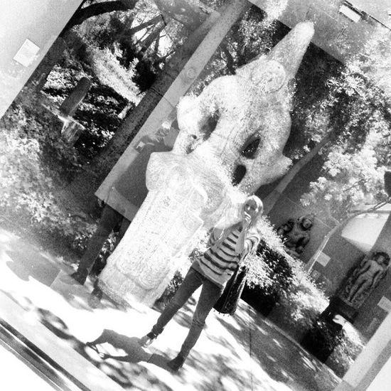 Ghost Reflection Blackandwhite Nortonsimonmuseum museum art