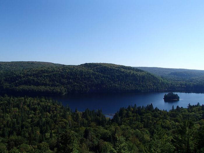 Lac Wapizagonke (Parc national de la Mauricie) Lake Sky Plant Water Tree Scenics - Nature Beauty In Nature Clear Sky Nature Idyllic Outdoors