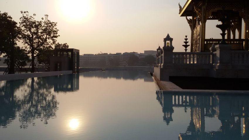 Refleted water, 'enjoy The Sun Enjoying Nature Architecture Taking Photos Silhouettes Of A City EyeEm Thailand .