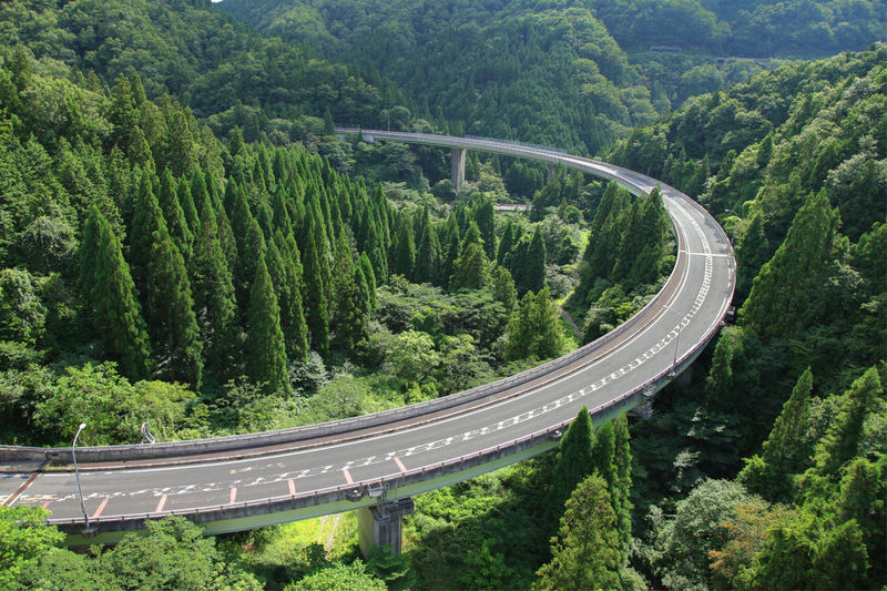 landscape japan shimane orochi-looproad Tree Plant Road Transportation High Angle View Forest Curve Green Color No People Nature Mountain Growth Beauty In Nature Scenics - Nature Foliage Mode Of Transportation Non-urban Scene Land Lush Foliage Mountain Road Winding Road Outdoors WoodLand