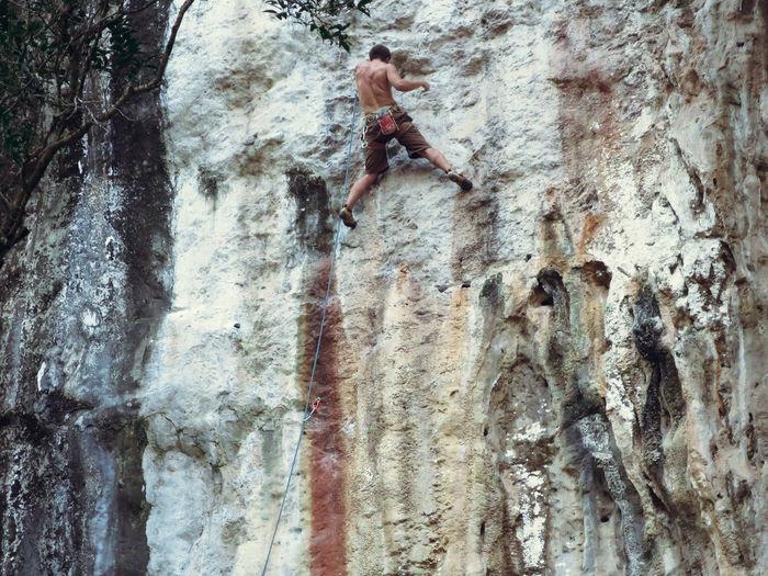 Climbing Day Extreme Sports Full Length Laos Outdoors Rock Climbing Sport Tree