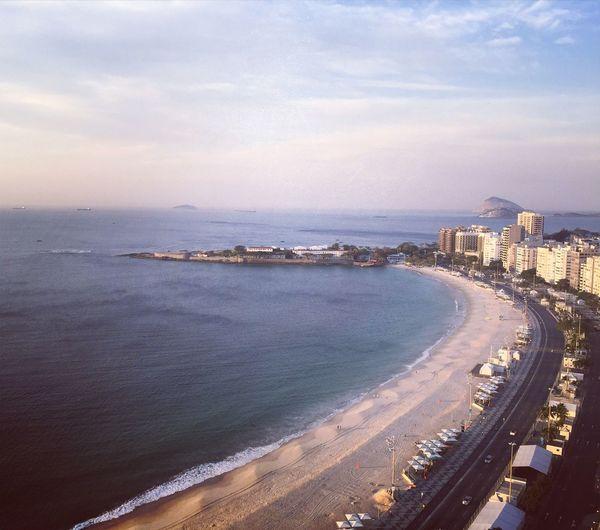 Copacabana : view of Copacabana Fort . Rio Rio De Janeiro Riodejaneiro Rio2016 Rio 2016 Instagram