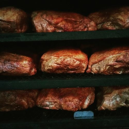 My World Of Food smoked pork butts. High Country Que catering!