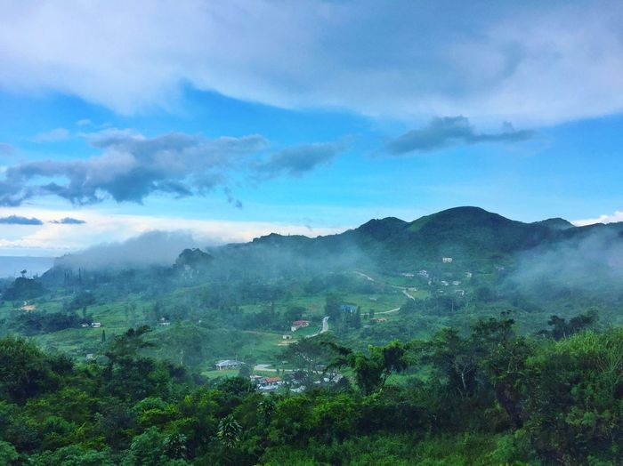 Scenics Nature Beauty In Nature Mountain Landscape Sky Outdoors Cloud - Sky Day Mountain Range Blue Sky Travel Destinations Relaxation Tourism Scenery Blue Osmeña Peak