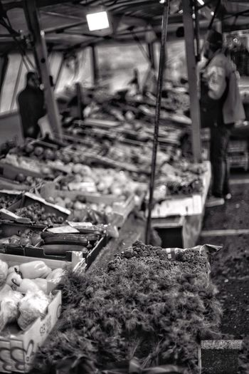 Weekly Market Black And White Healthy Food Vegetarian Food Vegetarian Food Green Market Weekly Market Day Focus On Foreground Outdoors No People Nature Transportation Metal Heap Large Group Of Objects Junkyard