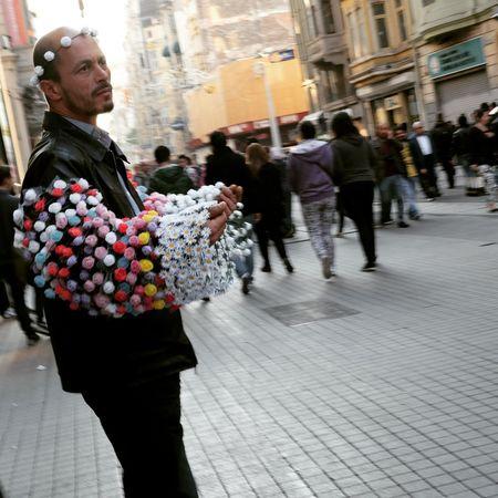 City City Life City Street Adult People Pedestrian Portrait Street Streetphotography Street Photography Streetphoto Street Seller Selling On The Street Man Istanbul Turkey Taksim Street Life Hope Entrepreneur Look