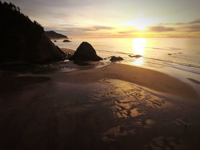 Life's a beach Pacific Northwest  Dji High Angle View Birds Eye View Sunset Sea Beach No People Sand Outdoors Scenics Sky Nature Water Tranquility Beauty In Nature