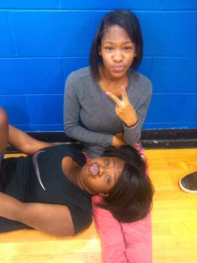 In Gym Chilling W/ My Bff .
