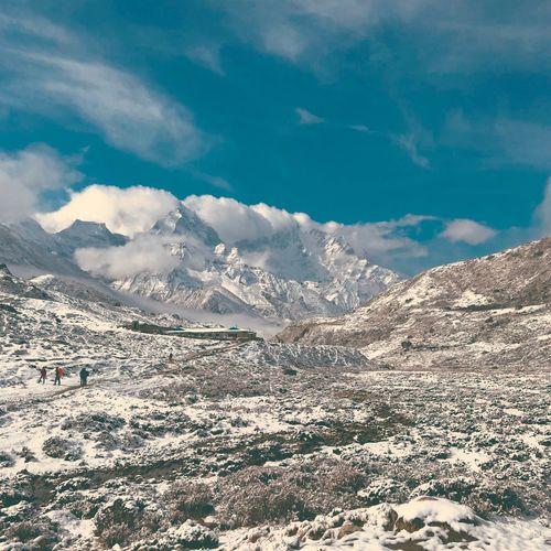 A snow mountain