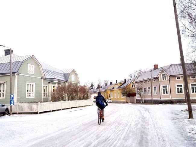 Another winter day. Bikingtoschool Winterinfinland Winterliving Winterland
