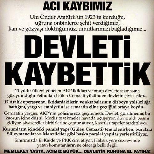 ???? Tebrikler.. RTE Türkiye Chp MHP akp vatan millet oyver vefat