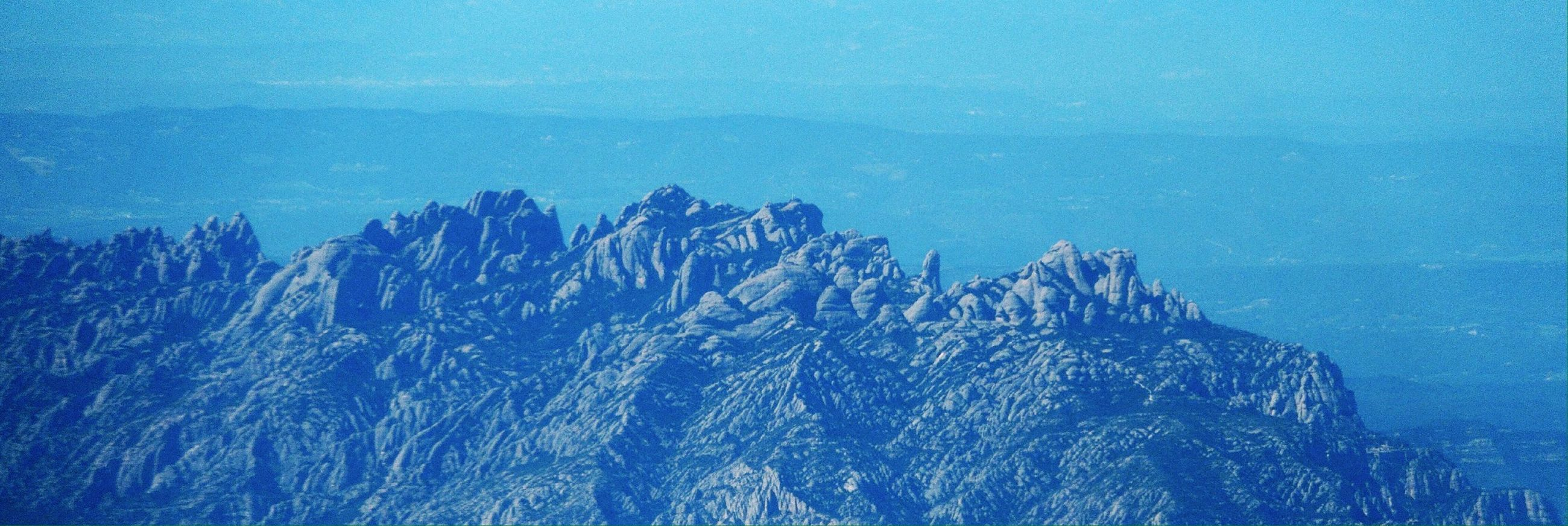 Mountains From An Airplane Window Landscape Blue