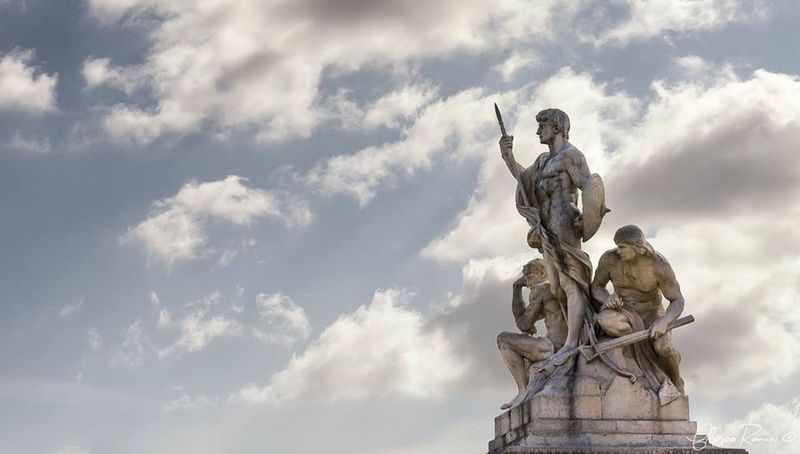 Statue Rome Taking Photos Eye4photography  EyeEm Traveling Taking Photos Mycity Clouds And Sky