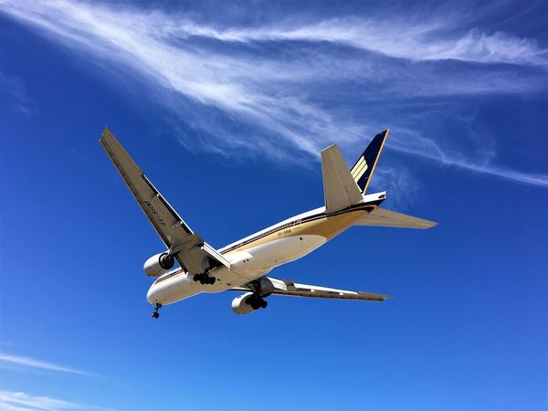 Aerospace Industry Air Aircraft Airplane Airplanes Airport Boeing 777 Clouds And Sky Day Flying Flying High Holidays ☀ Jet Jumbo Jet Landing Landing Gear Leisure Low Angle View No People Outdoors Plane Plane Spotting Singapore Airlines Sky Wings