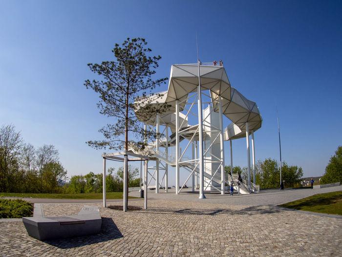 Der Wolkenturm auf dem Kienberg in Berlin - Hellersorf Built Structure Architecture Clear Sky Wolkenturm Kienberg Park Observation Point Aussichtsturm Man Made Object