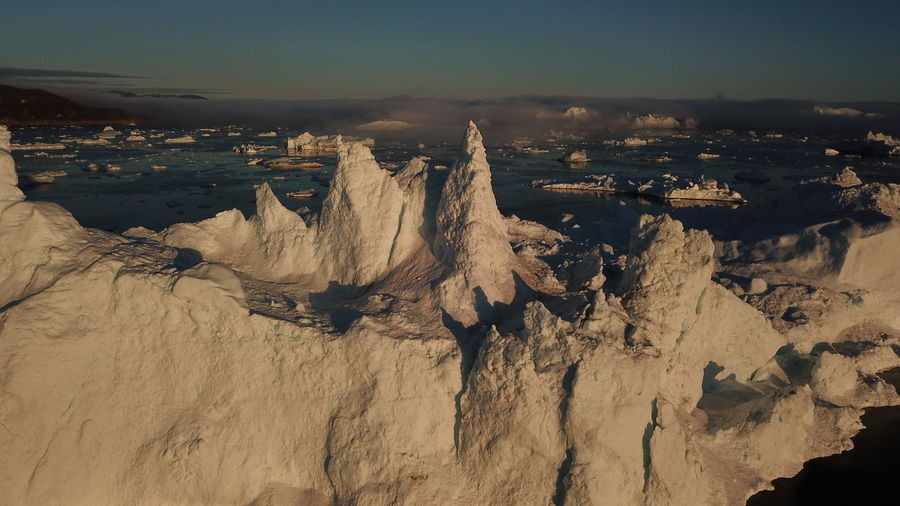 Drone  Drone Shot EyeEm Best Shots EyeEm Best Shots - Nature EyeEm Best Shots - Sunsets + Sunrise Icebergs Ilulissat Ilulissat Icefjord The Real Greenland This Is Greenland Drone Photography Dronephotography Droneshot Iceberg Iceberg - Ice Formation Mavic Pro Sunset