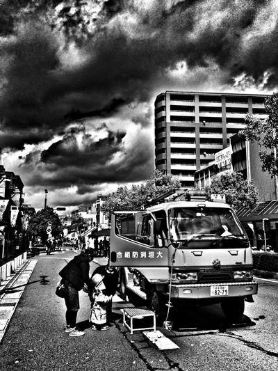 Fire Engines 消防車 Blackandwhite IPhone5