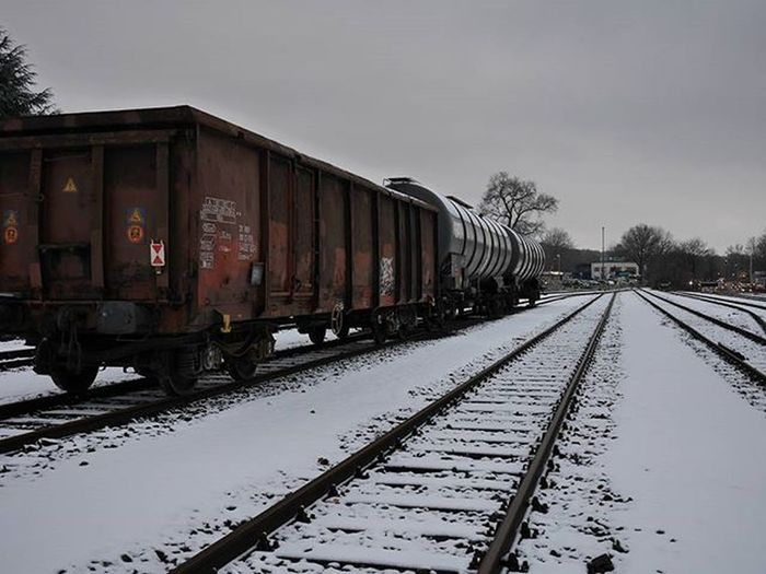 Nofilter Street Railway Track Station Freightcar Train