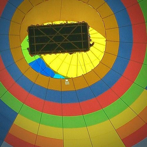 Hot Air Balloons Rainbow Colors Bright Underneath Ballon Trip