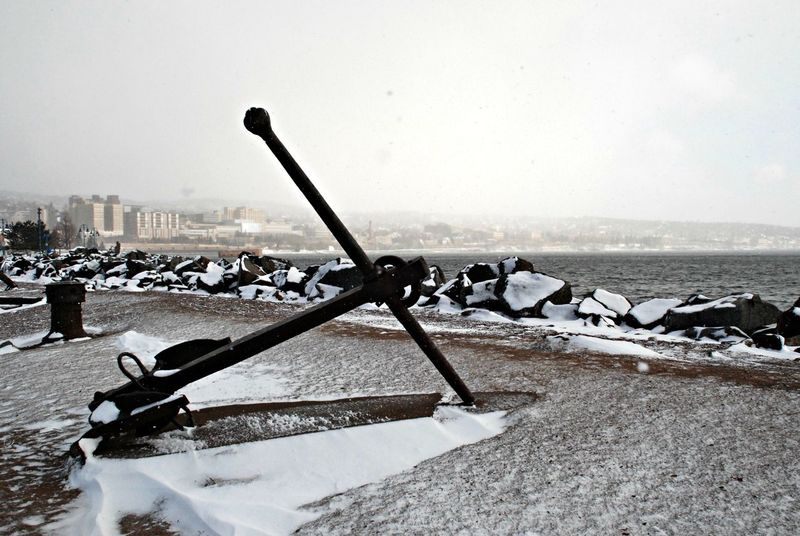Anchors Aweigh! Canal Park, Duluth, MN, US. Early Spring Landscape Waterscape Object Mounment