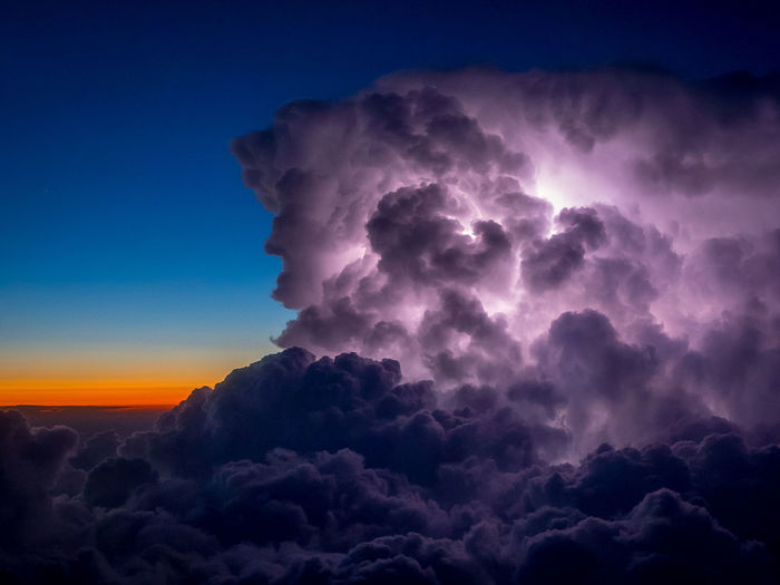 Beauty In Nature Blue Blue Hour Cloud - Sky Clouds And Sky Cloudscape Day Electric Horizon Lightning Lightning Bolt Lightning Storm Low Angle View Nature No People Outdoors Scenics Sky Storm Storm Cloud Storm Clouds Stormy Weather Thunderstorm Tranquil Scene Tranquility