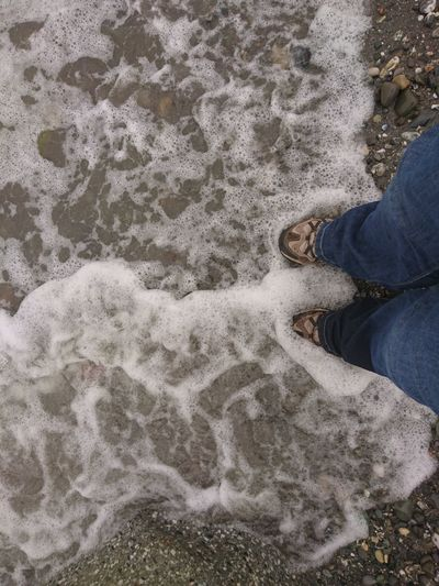 Waves Sand Waves Shore Naturelovers Humanfeet Peaceful Place Travel Destinations Travel Loneliness Freedom Personal Perspective High Angle View Mypointofview Beach View Beach Beachwalk Footpath Sand Person Shore Sandy Beach Horizon Over Water Calm Feet Human Ocean The Traveler - 2018 EyeEm Awards