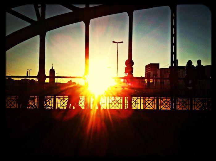Sunset @ Munich Hackerbrücke