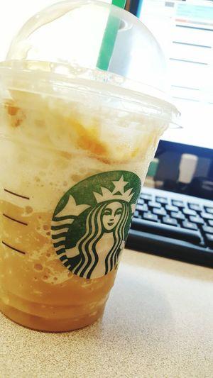Refreshment Drink Starbucks Caramel Working Hard Work Flow Workdays