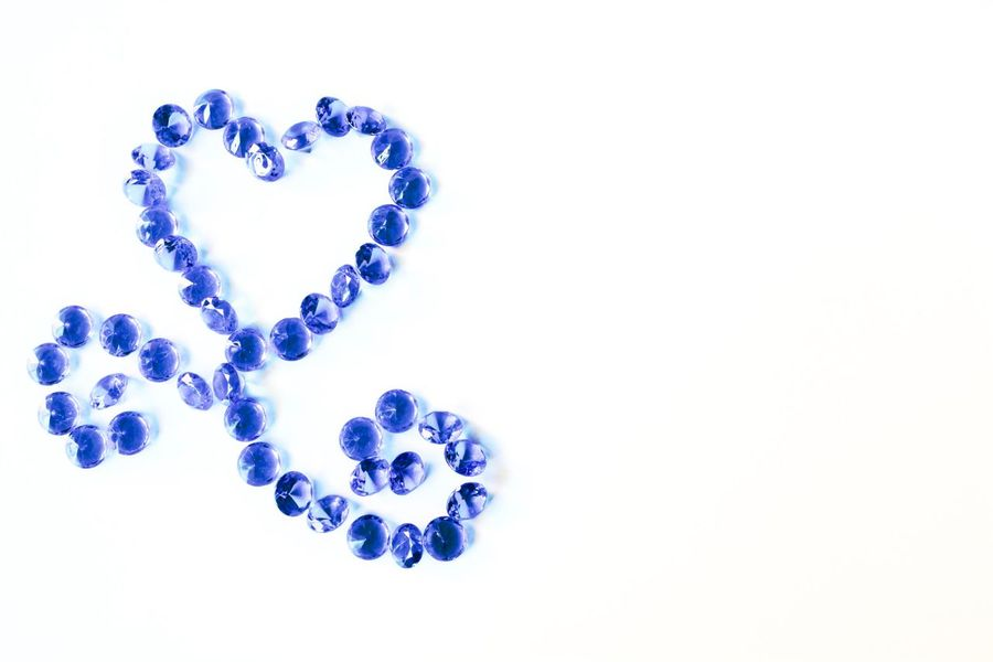 Blue Studio Shot Close-up Love No People White Background Indoors  Day Backgrounds Blue Christal Blue Diamonds Luxury Decoration Rich Life Beautiful Diamonds Diamond Life Diamond Diamonds Accesories Hobby Design Still Life Crystal Large Group Of Objects Love