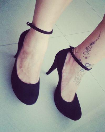 Shoe Person Footwear HighHeels Tattoo Tattoo Girl Blackheels Fetiche Feetfetisch Ankletattoo