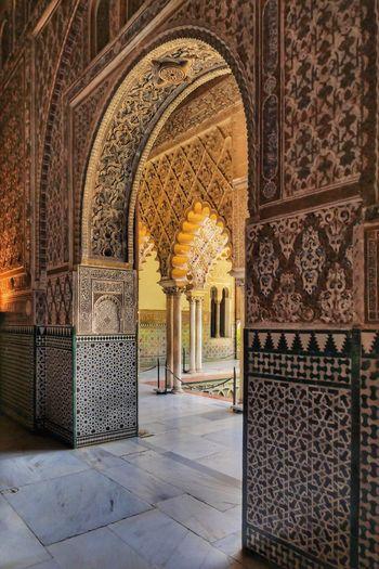 Mudéjar Style Architecture in Sevilla Andalucía SPAIN España Arch Design Pattern Pattern, Texture, Shape And Form Architecture Travel Destinations Ornate History BYOPaper! The Architect - 2017 EyeEm Awards Court