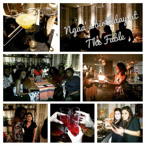 Awesome night celebrating @miss_ngaa's birthday at TheFable . CocktailMaking Chitchat and Drinks