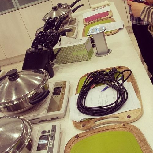 kitchen set sponsored by amway Amway Kitchenset Cookingclass Practice 분당
