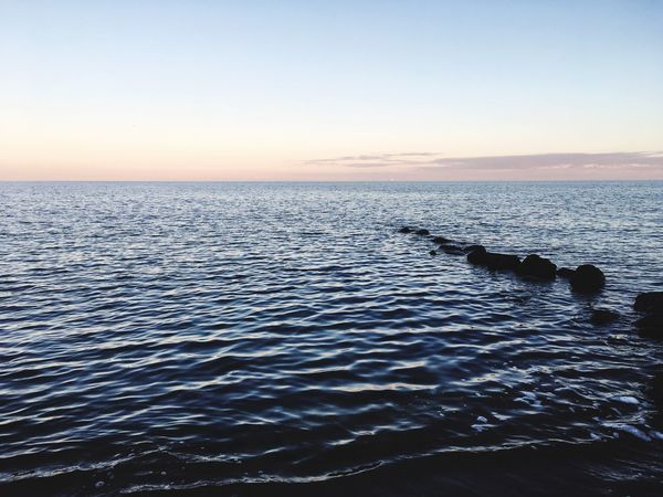 Sea Water Beauty In Nature Scenics Nature Tranquil Scene Tranquility Sunset Horizon Over Water No People Outdoors Clear Sky