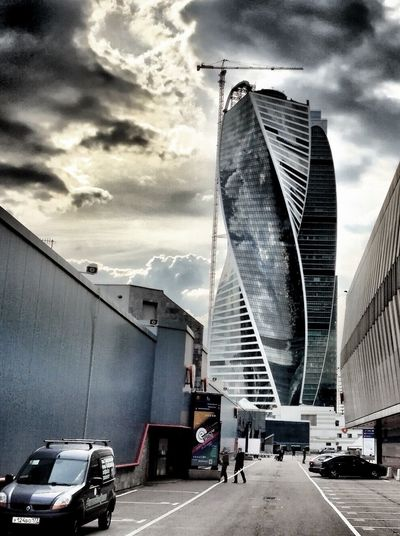 One week in Moscow. Some interesting buildings closed to Expocenter at river Moskwa IPhoneography Architecture HDR Moscow City