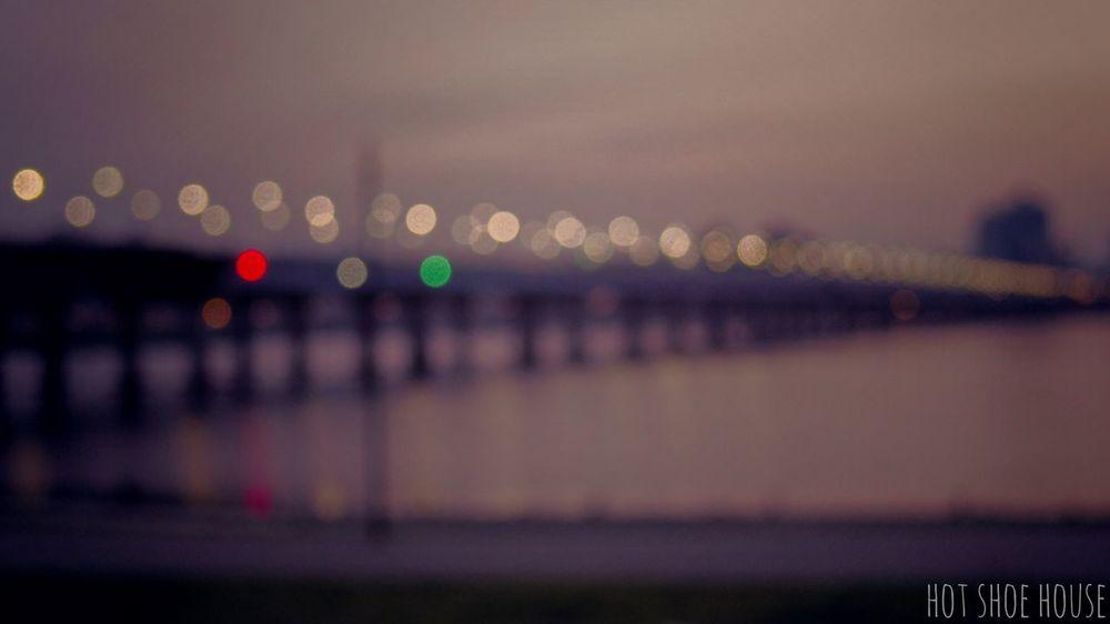 Architecture Bridge - Man Made Structure City Cityscape Close-up Defocused Illuminated Night No People Outdoors Sky