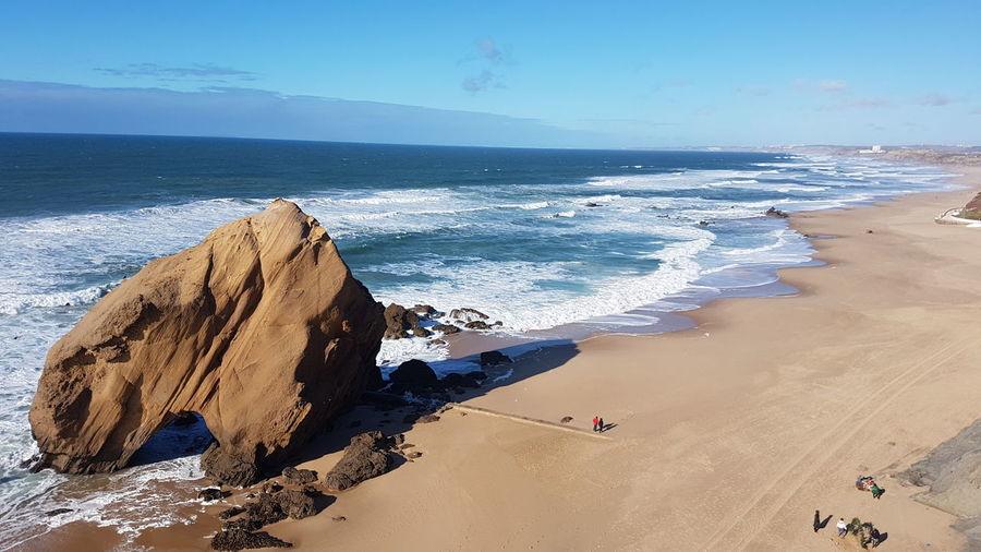 penedo do guincho Ocean Atlantic Ocean Portugal Penedo Do Guincho Horizon Over Water Nature Summer Sand Dune