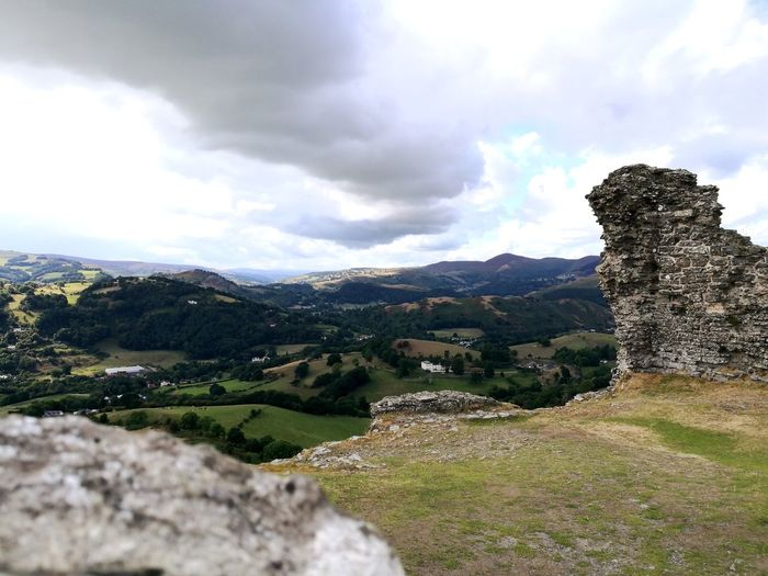 Wales Castle Ruin Focal Length For Ground Stone Arch EyeEm Best Shots Castle Ruin Dinas Bran Ruined Wall Castle Walls Landscape Lanscape Photography Wide Angle Mountain Sky Landscape Grass Cloud - Sky
