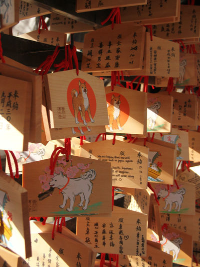 Close-up of illuminated lanterns hanging on paper