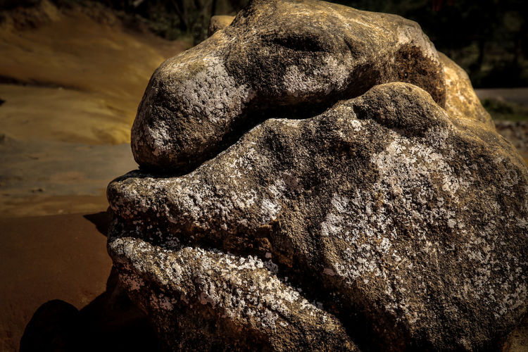Abstract Shape Human Body Part Close-up Outdoors Textured  Nature Beyond The Tangible Stone Face Sculpture Sculputed