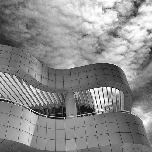 THE GETTY Architecture Modern Built Structure Cloud - Sky No People Sky Outdoors Building Exterior Blackandwhite Black And White Art Photo Of The Day Photography Clay Hayner Photo ClayHaynerPhoto Travel Photography Museum Travel La California Los Angeles, California Los Ángeles Day Art Is Everywhere