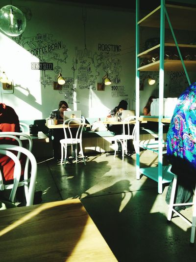 I didn't drink coffee today but I still ended up inside a Cafe. Coffee Time Coffee Break Coffee Shop Light And Shadow Interior Design Group Of People Open Edit Strangers Working Studying Student Life