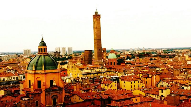 Italy🇮🇹 Bologna Vista Dall'alto 2torricupola Centro Storico Architettura Citycenter 2Towers Architecture