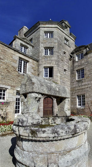 Manoir Manor House Stang Well  Building Exterior Architecture Built Structure Building Window No People Sky Nature History Low Angle View The Past Old Day Blue Outdoors Residential District Solid Stone Material Wall House
